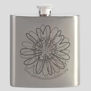 2-girls-daisy-gray Flask