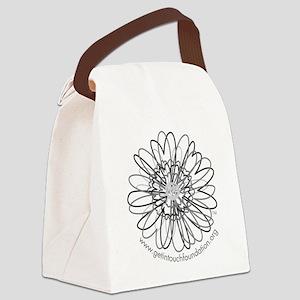 2-girls-daisy-gray Canvas Lunch Bag