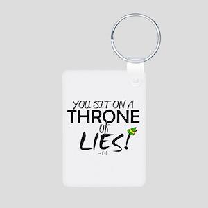 'Throne of Lies!' Aluminum Photo Keychain