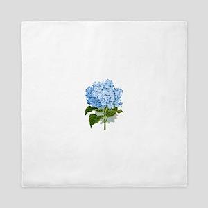 Blue hydrangea flowers Queen Duvet