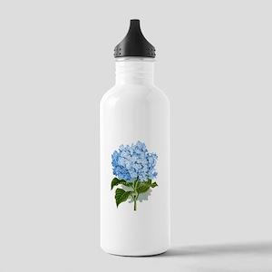 Blue hydrangea flowers Sports Water Bottle