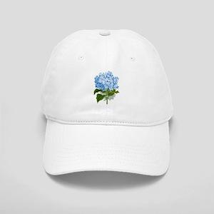 Blue hydrangea flowers Cap