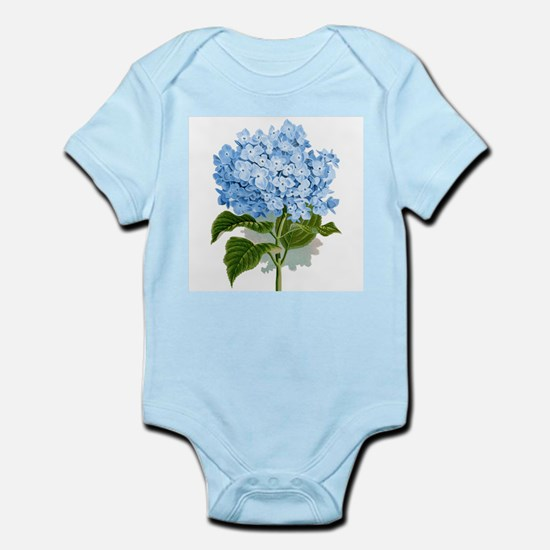 Blue hydrangea flowers Body Suit