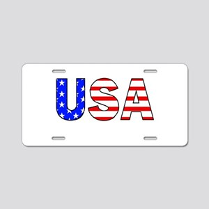 USAb Aluminum License Plate