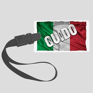 GUIDO ITALIAN FLAG Large Luggage Tag
