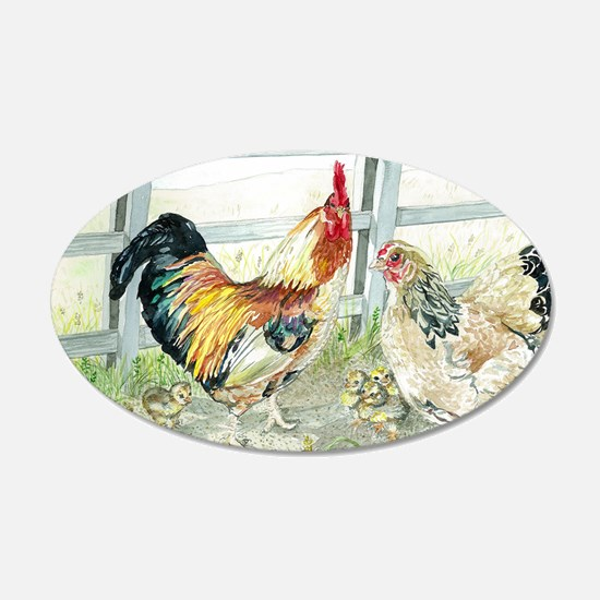 Rooster, Hen  Chicks Wall Decal