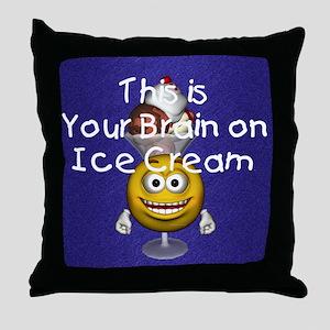 icecreambrain1 Throw Pillow