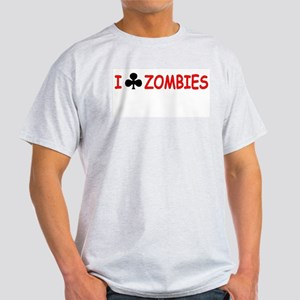 """I Club Zombies"" Ash Grey T-Shirt"