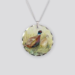Pheasant Necklace Circle Charm