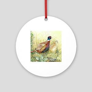 Pheasant Round Ornament