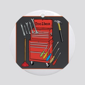 Colorful Toolbox Ornament (Round)