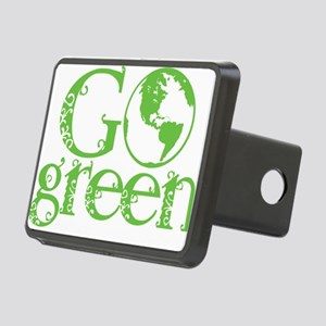 2-Go-Green-blk Rectangular Hitch Cover