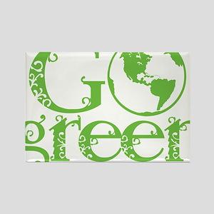 2-Go-Green-blk Rectangle Magnet