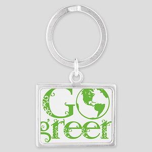 2-Go-Green-blk Landscape Keychain