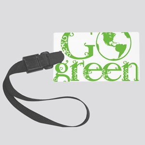 2-Go-Green-blk Large Luggage Tag