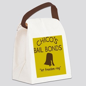 Chicos Bail Bonds Magnet Gold Canvas Lunch Bag
