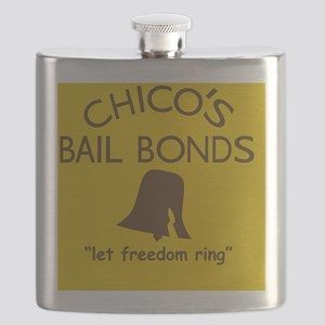 Chicos Bail Bonds Magnet Gold Flask