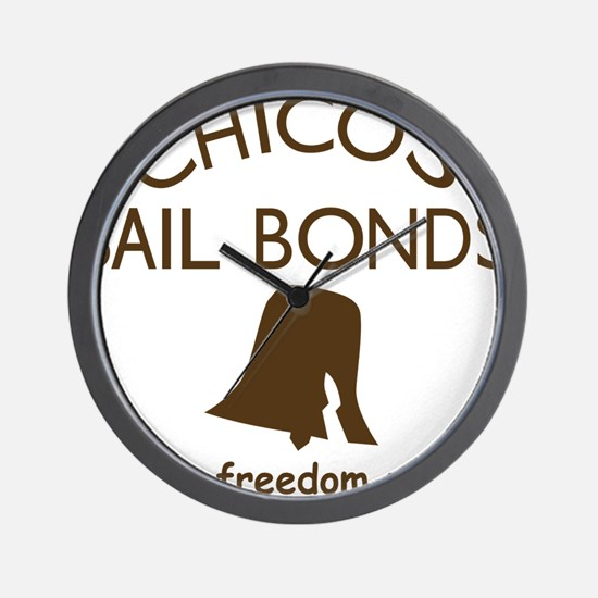 Chicos Bail Bonds Brown Wall Clock