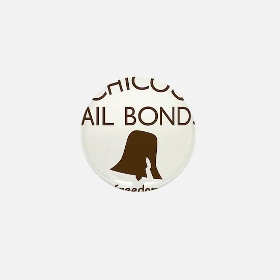 Chicos Bail Bonds Brown Mini Button