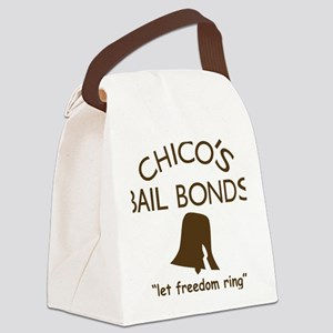 Chicos Bail Bonds Brown Canvas Lunch Bag