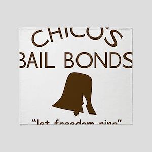 Chicos Bail Bonds Brown Throw Blanket