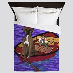 Cali on Water cropped Queen Duvet