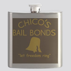 Chicos Bail Bonds Magnet Brown Flask