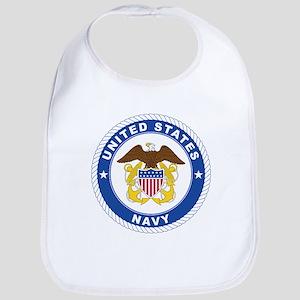 Navy Baby Bib