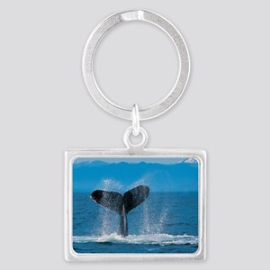 whale wide Landscape Keychain