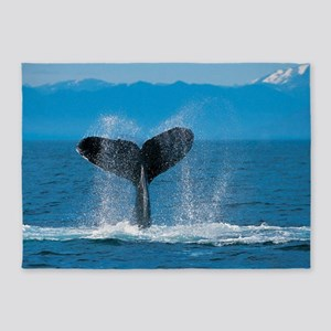 whale wide 5'x7'Area Rug