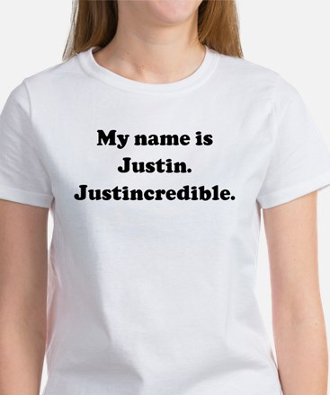 My name is Justin. Justincred Women's T-Shirt