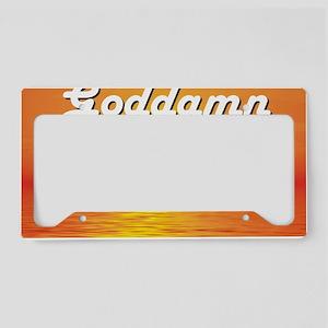 Goddamn lposter License Plate Holder