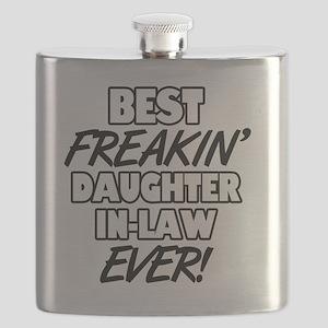 Best Freakin' Daughter-In-Law Ever Flask
