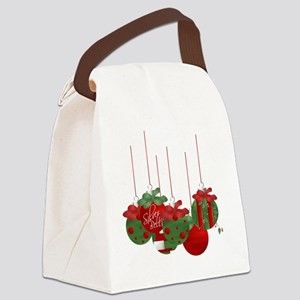 Christmas Ornaments Canvas Lunch Bag