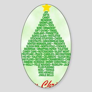 tree5b_new Sticker (Oval)