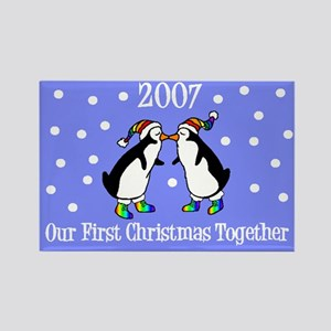 Our First Christmas Together Rectangle Magnet