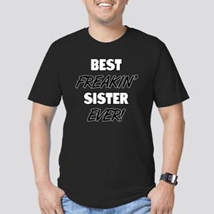 Best Freakin' Sister E Men's Fitted T-Shirt (dark)