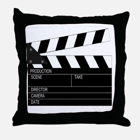 Director' Clap Board Throw Pillow