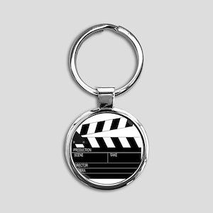 Director' Clap Board Round Keychain