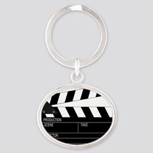 Director' Clap Board Oval Keychain