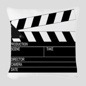 Director' Clap Board Woven Throw Pillow