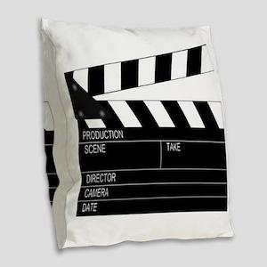 Director' Clap Board Burlap Throw Pillow