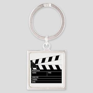 Director' Clap Board Square Keychain