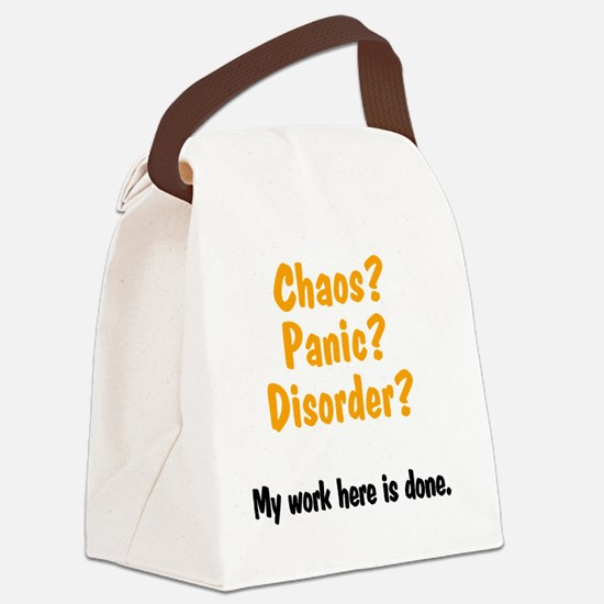 caos-panic-disorder Canvas Lunch Bag