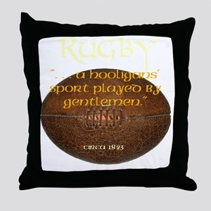 Rugby Hooligans Throw Pillow
