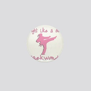 fight like a girl Mini Button
