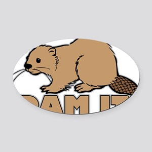 dam it Oval Car Magnet