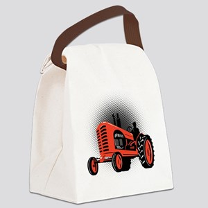 Vintage Farm Tractor Canvas Lunch Bag