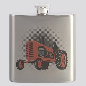 Vintage Farm Tractor Flask