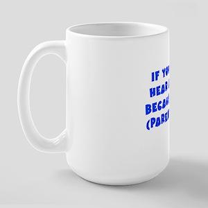 Wright_parentheses_blu Large Mug